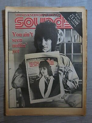 SOUNDS 21st August 1976 ~ Rolling Stones ~ Roy Thomas Baker ~ Knebworth Festival