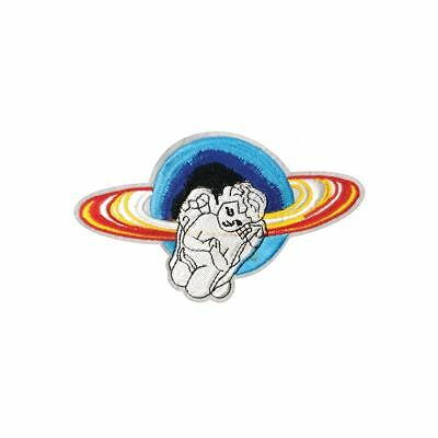 Planet Angel (Iron On) Embroidery Applique Patch Sew Iron Badge