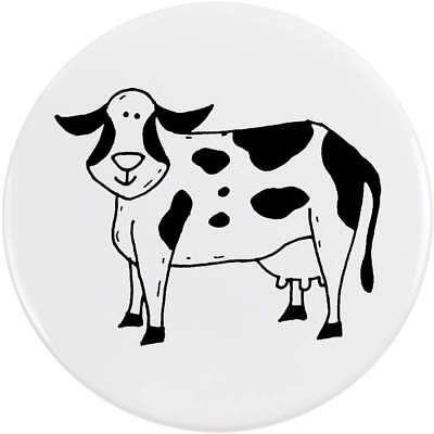 77mm 'Cow' Large Button Pin Badge (BB00051334)
