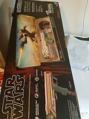 NEW Boba Fett NERF Rival Apollo XV-700 Blaster Star Wars w/ Mask and Rounds