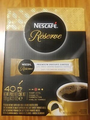 Nescafe Reserve Premium Instant Coffee 40 Pack Ground Roasted  BB 25.07.17 RARE