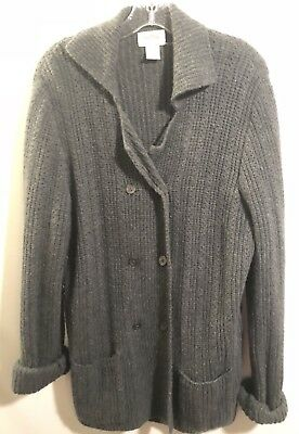 Neiman Marcus 100 Cashmere Womens Sweater Double Breasted Buttons