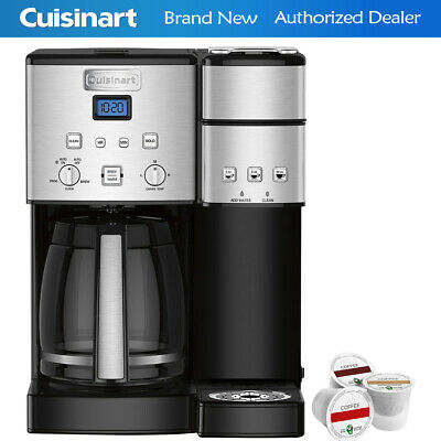 Cuisinart 12-Cup Coffee Maker and Single-Serve Brewer Stainless Steel+K-Cup Pack