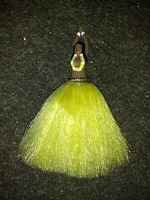 HAWAIIAN , TOPLESS HULA GIRL ,  DANCER ,  FEATHER DUSTER , Vintage , Rare design