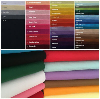 Wool Mix Felt Sheets | Huge 60 Colour Choice | Buy from 0.45M by 90cm Wide
