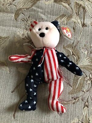 ty Beanie Baby Spangle (Red Face) 1999 PE Pellets
