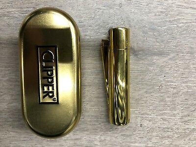 NEW!!! 100% Authentic Clipper Gold Refillable Metal Lighter (2 Year Warranty!)