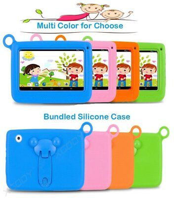 7inch Android 4.4 Quad Core WiFi Dual Camera 4GB Kids Tablet PC + Case Lot F7