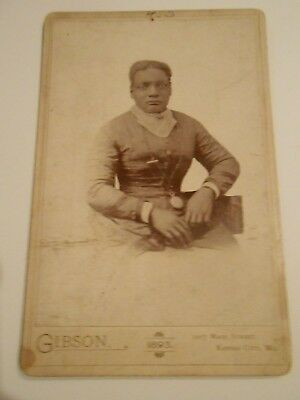 Mounted Photograph of African American Woman Wearing Large Pocket Watch 1916