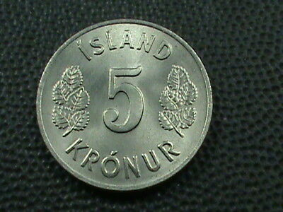 ICELAND  5 Kronur  1969   UNC   ,   $ 2.99  maximum  shipping  in  USA