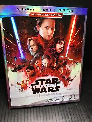 Star Wars: The Last Jedi Episode VIII (Blu-ray only)  Open Very Good