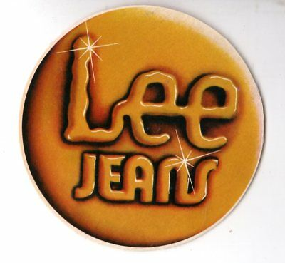 Genuine 1970's LEE JEANS Promotional Sticker EXC