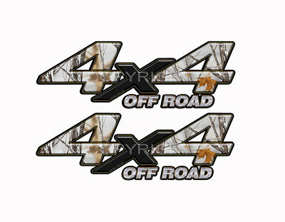 4x4 Truck Real Snowstorm Camo Truck Decal Sticker KA034NOR4