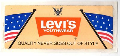 Genuine 1970's LEVI'S YOUTH WEAR Promotional Sticker EXC