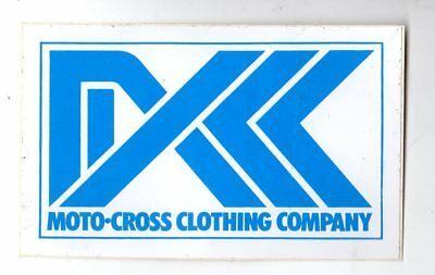 Genuine 1970's DXK MOTO-CROSS CLOTHING CO  Promotional Sticker EXC
