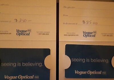$275 Vogue Optical Gift Cards