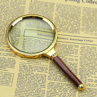 New 10X Magnification Magnifier Handheld Magnifying Glass Loupe Jeweler Tool Wo