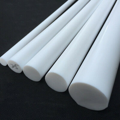 White PTFE Teflon Round Rod Bar Stick 5mm 6 8mm 10mm 12mm Dia 100/200/300mm Long