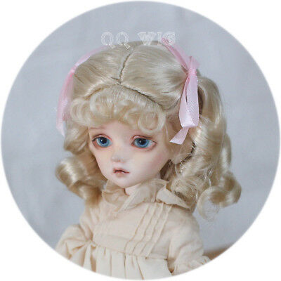 QQ-69A  BJD Doll Synthetic Mohair Wig   golden brown 1//3  1//4 1//6 size ;