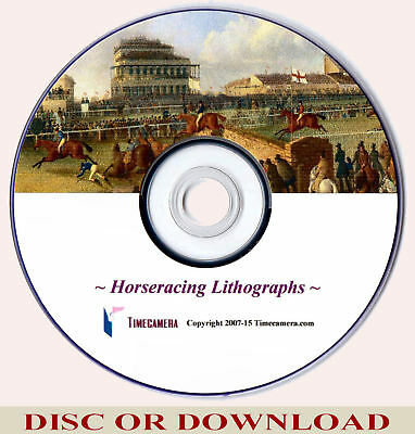 Make & Sell - ANTIQUE HORSE RACING PRINTS Vol.1 Images Collection, Home Business
