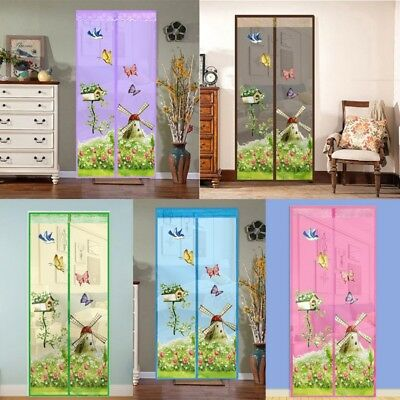 Mesh Door Window Magic Curtain Magnetic Fly Bug Insect Mosquito Screen Net Guard