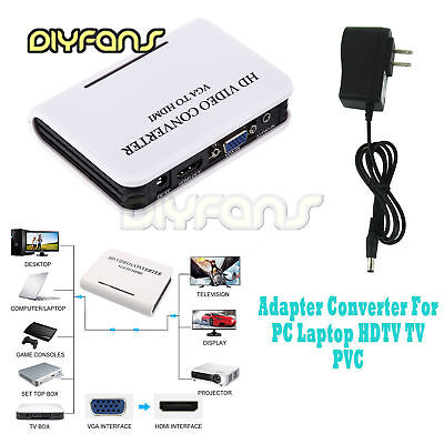 1080P Audio VGA zu HDMI HD HDTV Video Konverter Box Adapter for Laptop PC DVD