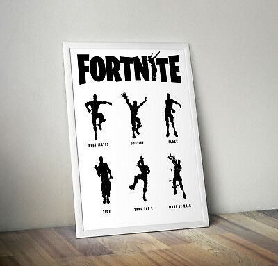 Fortnite inspired battle royale poster print wall art gift decor merchandise