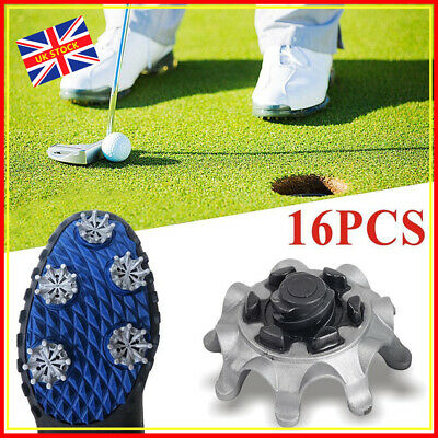 16x Replacement Soft Fast Twist Studs Golf Shoes Spikes Pins For Footjoy Grey