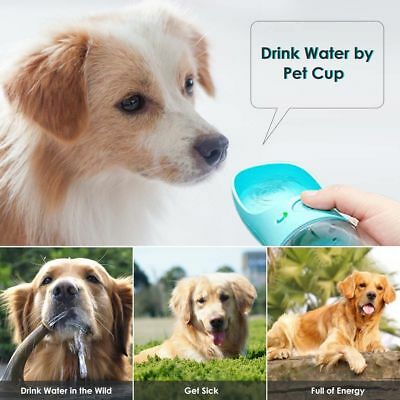 Puppy Dog Cat Pet Water Bottle Drinking Travel Outdoor Portable Feeder Cup 350ML