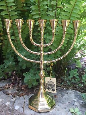 Menorah Jerusalem Temple 10 Inch Height 25 Cm 7 Branches Brass  Free Shipping