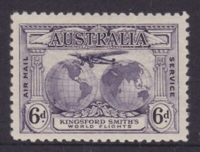 AUSTRALIA PRE DECIMAL 1931 6d Purple Kingsford Smith Airmail FINE MLH (DE45.7)