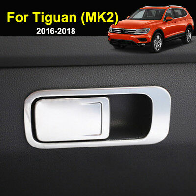 For VW Tiguan MK2 2016-2019 Chrome Glove Box Handle Cover Trim Sticker Stainless