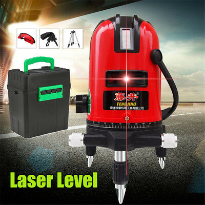 Self-Leveling Laser Level 360° Rotary 2/3/5 Cross Red Lines Measure Tool Set