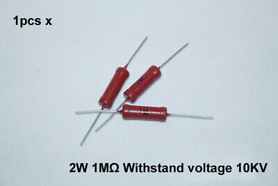 2Watts 1M Ohm High Voltage Glass Glaze Film Resistors 2W for Marx Generator 1pcs