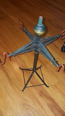 Vintage Metal Table Top Weathervane On Stand Look Measures About 17 Inches  Tall