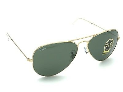 98fb4e40d775d RAY-BAN AVIATOR RB 3025 L0205 Shiny Gold Sunglasses Green G-15 Lens ...