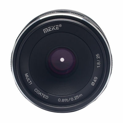Meike25mm F/1.8 Prime Lens APS-C for Sony EMount A6000 A6300 A6500 MirrorlessCam