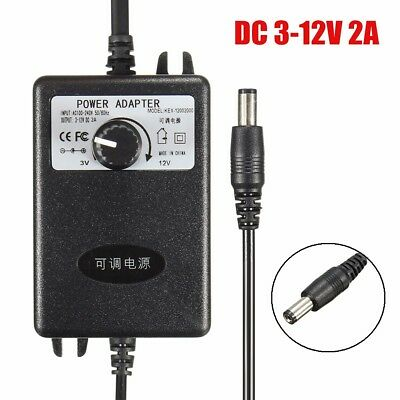 AC100-240 to DC 3-12V 2A Adjustable Power Supply Adapter Motor Speed Controller