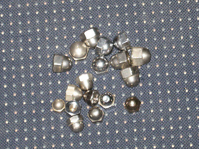 10 pack of Stainless cap/acorn nuts = 1/4x20 = 10x32 = 10x24  = 8x32 = 6x32