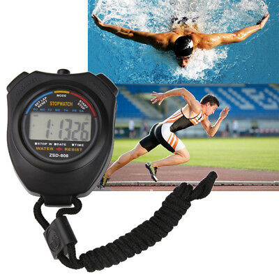 Digital Running Timer Chronograph Handheld Sports Stopwatch Counter with Strap