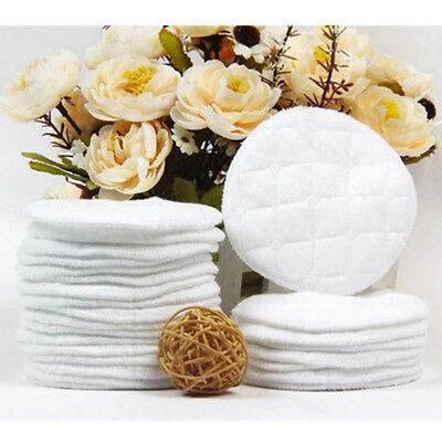 AU 10Pcs Reusable Nursing Breast Pads Washable Soft Absorbent Breastfeed Cotton