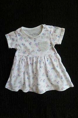 Baby clothes GIRL 0-3m white floral short sleeve soft cotton dress SEE SHOP!