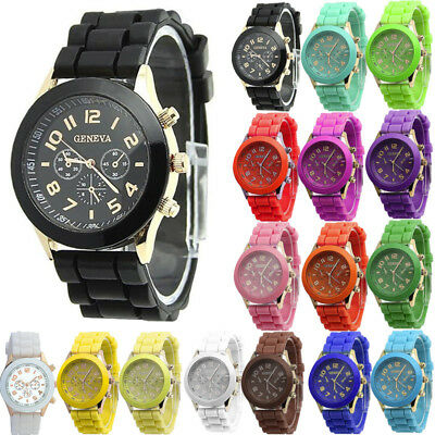 Fashion Womens Ladies Girls Boys Casual Watch Silicone Sports Wrist Watch Gift
