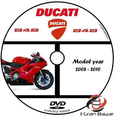 MANUALE OFFICINA DUCATI 848 my 08 - 10 WORKSHOP MANUAL SERVICE DVD