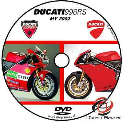 Manuale Officina Ducati 998 Rs 998 Bayliss My 2002 Workshop Manual Service Dvd