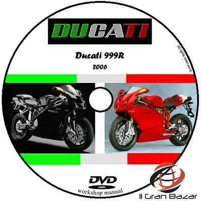 MANUALE OFFICINA DUCATI 999  my 2006 - PDF WORKSHOP MANUAL SERVICE DVD