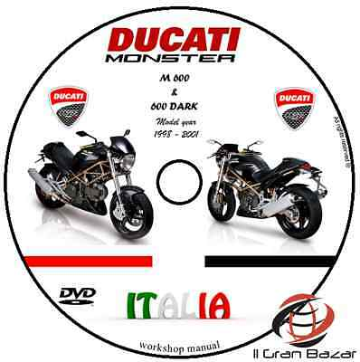 Manuale Officina Ducati Monster 600 Dark  Pdf My '98 '01 Workshop Manual Service