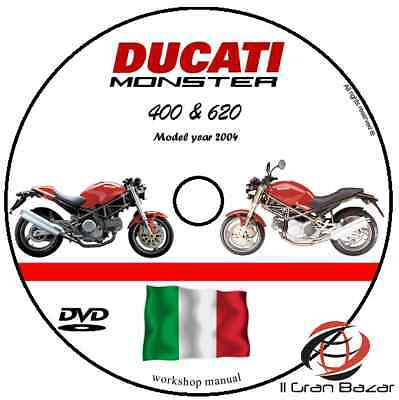 MANUALE OFFICINA DUCATI MONSTER 620 ie 400 my 04 WORKSHOP MANUAL SERVICE