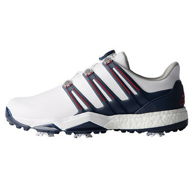 Adidas 2018 Mens Powerband BOA Boost Waterproof Golf Shoes - Wide Fit