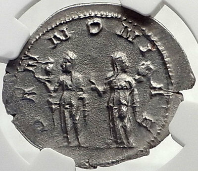 TRAJAN DECIUS Authentic Ancient Silver Roman 250AD Rome Coin PANNONIA NGC i70156